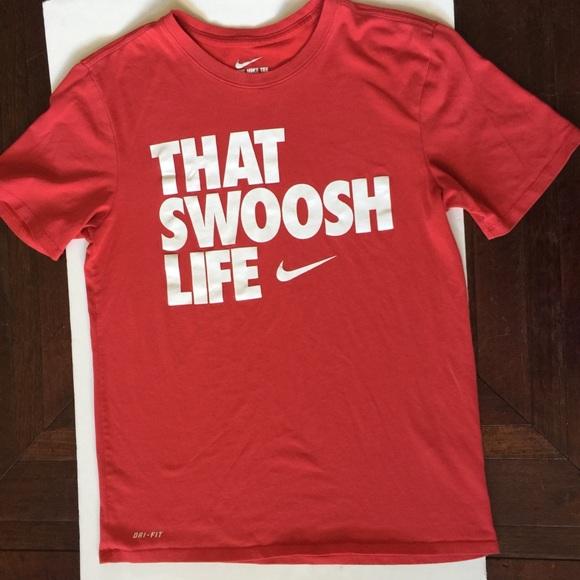 5da6d4a7 Nike Shirts | The Swoosh Life Red T Shirt Medium | Poshmark